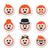 jengibre · bigote · bigote · sombrero · gafas - foto stock © redkoala