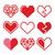 vettore · raccolta · rosso · cuore · forme · isolato - foto d'archivio © redkoala
