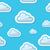 シームレス · 雲 · 芸術 · 雲 · グラフィック · 漫画 - ストックフォト © redkoala