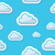 seamless clouds on blue sky background pattern stock photo © redkoala