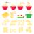 pasta noodles spaghetti   italian food icons set stock photo © redkoala