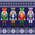 christmas jumper or sweater seamless pattern with nutcrackers stock photo © redkoala