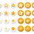 gold stars vector round icons set stock photo © redkoala