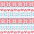 winter christmas seamless pixelated pattern with snowflakes and hearts stock photo © redkoala