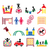 kids playground outdoor or indoor place for children to play icons set stock photo © redkoala