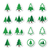 pine tree vector icons set stock photo © redkoala