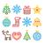 cor · natal · decoração · bola · vetor · conjunto - foto stock © redkoala