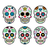 mexican sugar skull dia de los muertos icons set on white background stock photo © redkoala