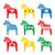 caballo · caballo · de · oscilación · mecedora · madera · juguete - foto stock © redkoala