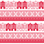 christmas knitted seamless pattern with town houses adn snowflakes stock photo © redkoala