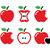appel · bijten · vorm · hart · illustratie · witte - stockfoto © redkoala