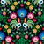 seamless polish folk art pattern with roosters   wzory lowickie wycinanka stock photo © redkoala