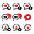 love speech bubbles couples vector icons set stock photo © redkoala