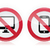 no computer no mobile or cell phone   forbidden red warning sign stock photo © redkoala