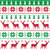 nordic seamless pattern with deer and christmas tree stock photo © redkoala