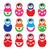 russian doll retro babushka vector colorful icons set stock photo © redkoala