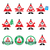 santa claus icons merry christmas icon labels stock photo © redkoala