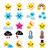 cute weather kawaii icons  star rainbow moon snowflake thunders and cloud stock photo © redkoala