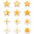 gold stars vector icons set stock photo © redkoala