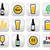 beer colorful vector buttons set   bottle glass pint stock photo © redkoala
