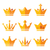 gold crown royal family icons set stock photo © redkoala