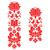 kalocsai red embroidery   hungarian floral folk art long patterns stock photo © redkoala
