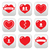 love hearts icons set for valentines day stock photo © redkoala