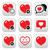 heart love vector icons set stock photo © redkoala