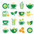green tea and ice tea vector icons set stock photo © redkoala