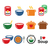 soup in bowl can and pot   food icon set stock photo © redkoala