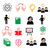 science knowledge creative thinking ideas vector icons set stock photo © redkoala