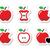 pomme · mordre · forme · coeur · illustration · blanche - photo stock © redkoala
