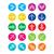 kleurrijk · pijl · iconen · achtergrond · groene · kompas - stockfoto © redkoala