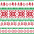 nordic seamless knitted red and green pattern stock photo © redkoala