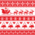 christmas jumper or sweater seamless red pattern with santa and reindeer stock photo © redkoala