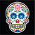 mexican sugar skull   polish folk art style   wzory lowickie wycinanka stock photo © redkoala