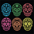 mexican sugar skull dia de los muertos icons on black stock photo © redkoala