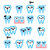 kawaii tooth cute teeth characters   vector icons set stock photo © redkoala