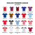 english premier league 2014   2015 football or soccer jerseys icons set stock photo © redkoala