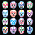 lucha libre mexican wrestling masks icons on black stock photo © redkoala