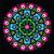 polish traditional circle folk art pattern on black   wzory lowickie wycinanka stock photo © redkoala