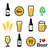 beer colorful vector icons set   bottle glass pint stock photo © redkoala