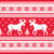 christmas and winter knitted pattern with reindeer stock photo © redkoala