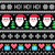 christmas jumper or sweater seamless pattern with santa and presents stock photo © redkoala