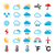 weather forecast colorful vector icons set stock photo © redkoala