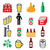 beer brewery drinking alcohol in pub vector icons set stock photo © redkoala
