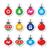 piros · zöld · klasszikus · karácsony · címkék · szett - stock fotó © redkoala