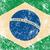 Бразилия · Гранж · флаг · стиль · Футбол · синий - Сток-фото © redkoala