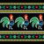 polish folk art pattern with roosters on black   wzory lowickie wycinanka stock photo © redkoala