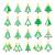 クリスマス · 緑の木 · ベクトル · デザイン - ストックフォト © redkoala